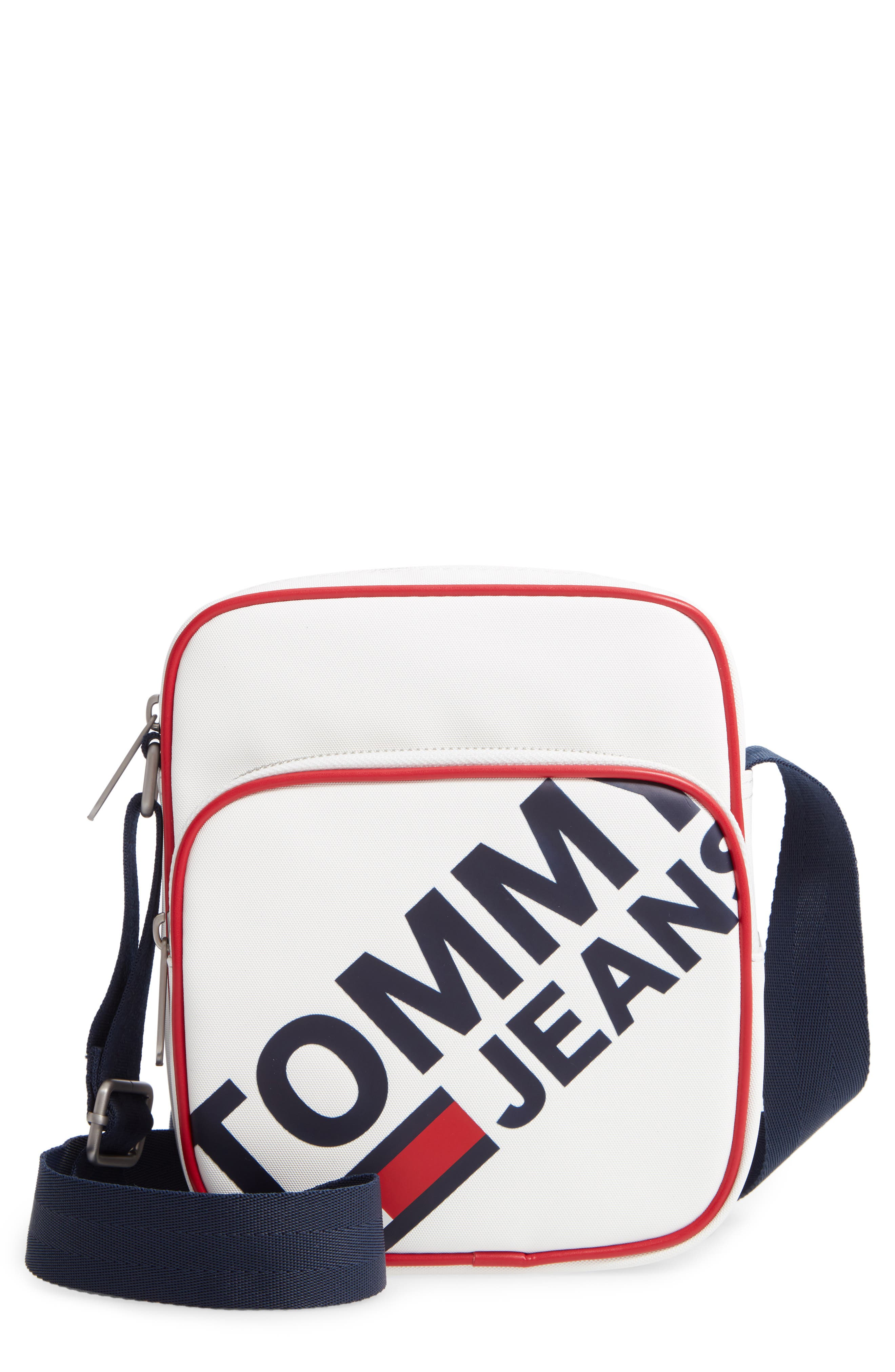 ,                             Modern Prep Reporter Mini Crossbody Bag,                             Main thumbnail 1, color,                             CLASSIC WHITE