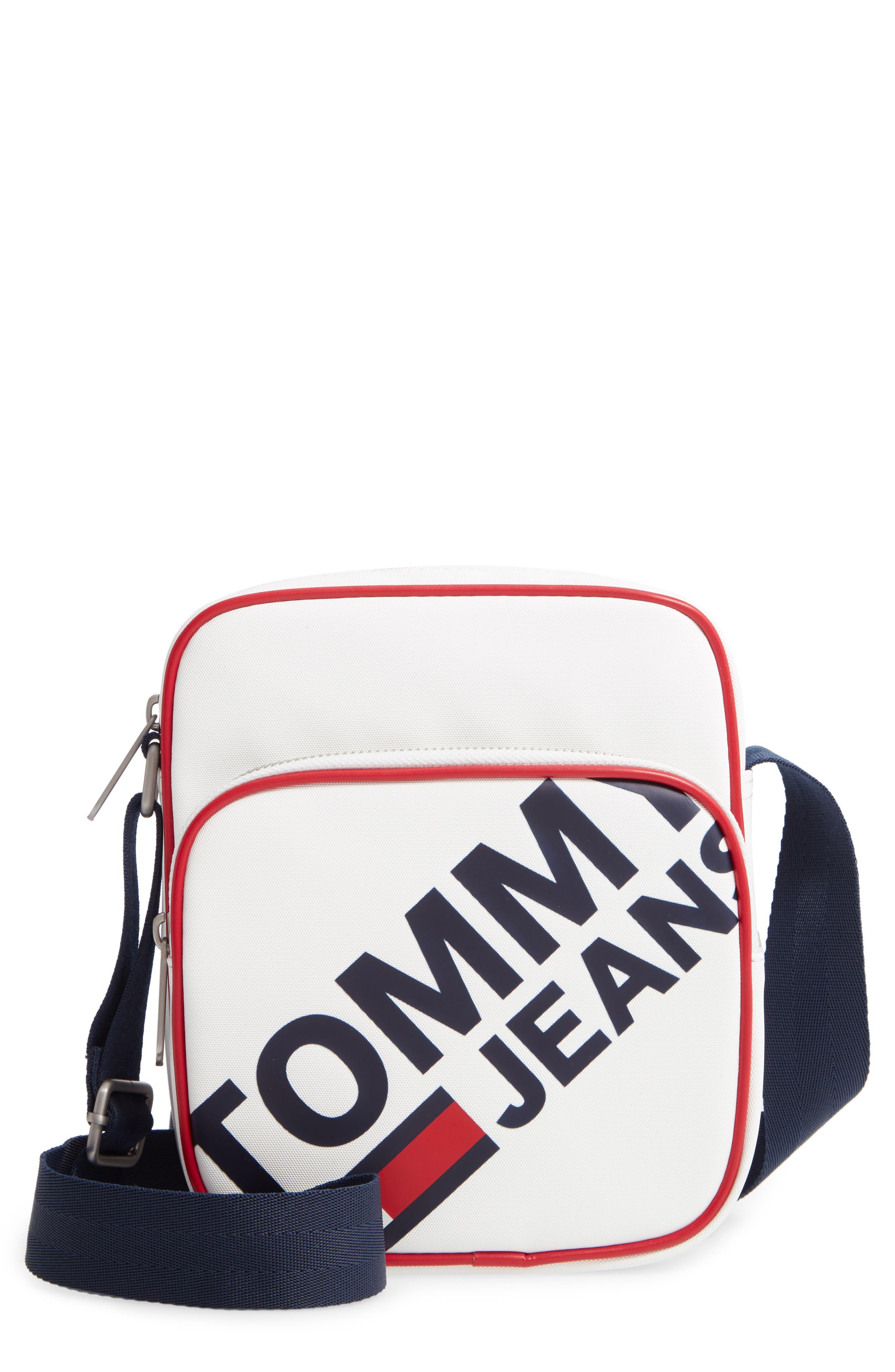 Modern Prep Reporter Mini Crossbody Bag, Main, color, CLASSIC WHITE