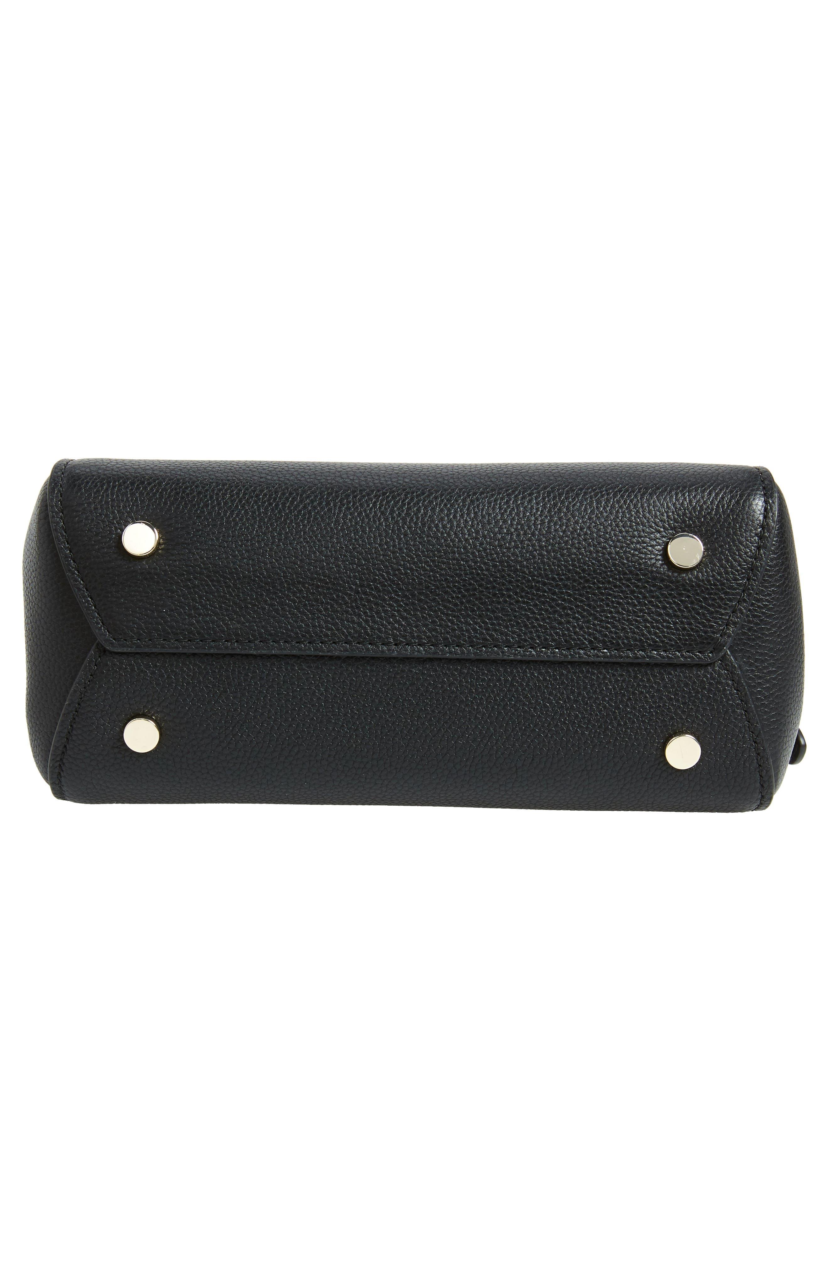 ,                             medium grace leather backpack,                             Alternate thumbnail 7, color,                             BLACK