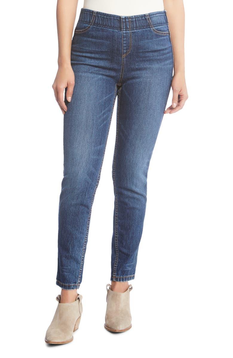Karen Kane Terra High Waist Skinny Jeans Vintage Wash