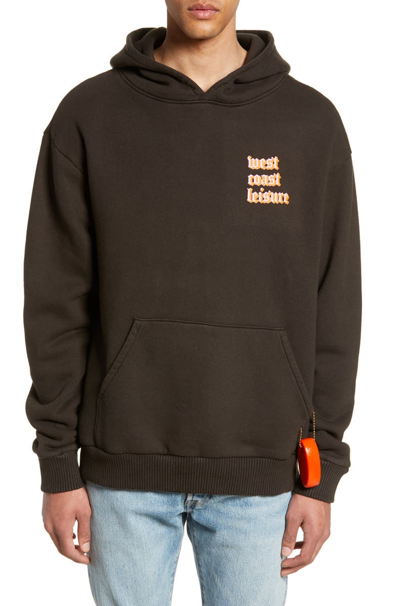PASADENA LEISURE CLUB West Coast Hoodie, Main, color, FADED BLACK