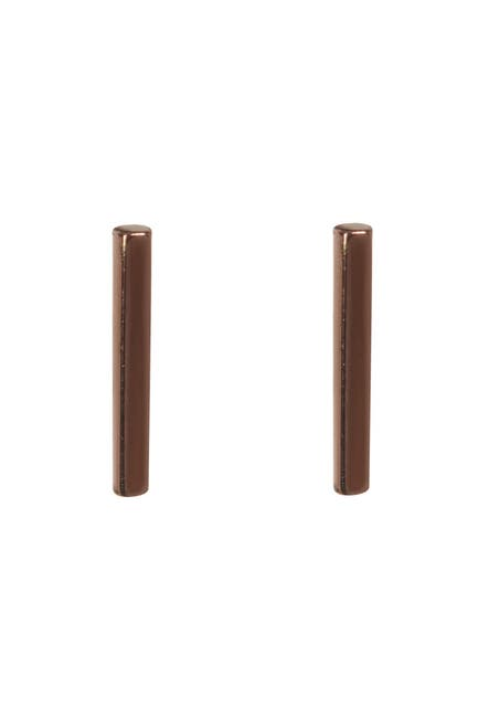 Image of Candela 14K Rose Gold Bar Stud Earrings