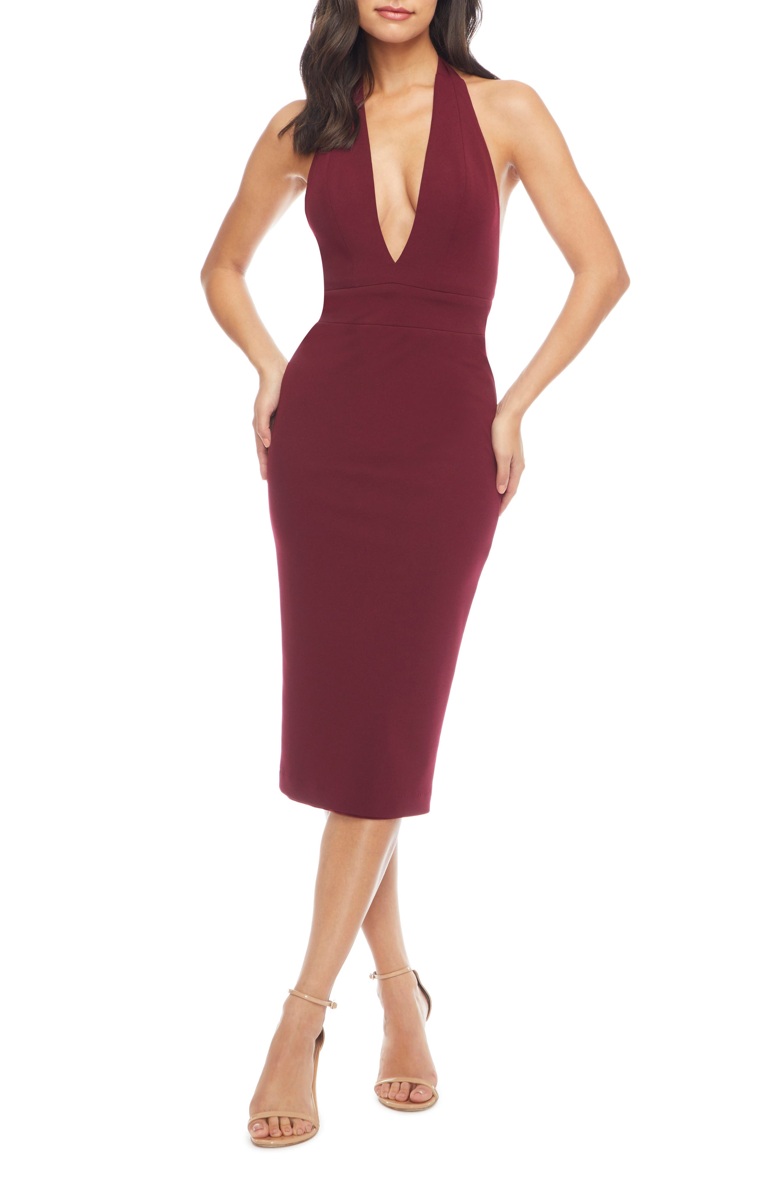 Vanessa Halter Body-Con Midi Dress