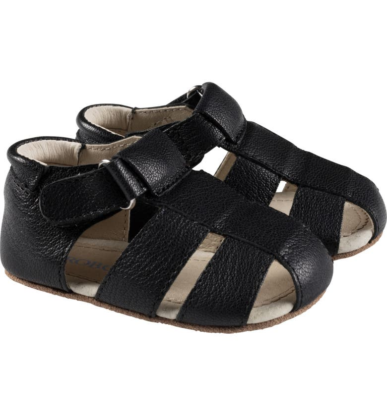 ROBEEZ<SUP>®</SUP> Matthew Fisherman Sandal, Main, color, BLACK