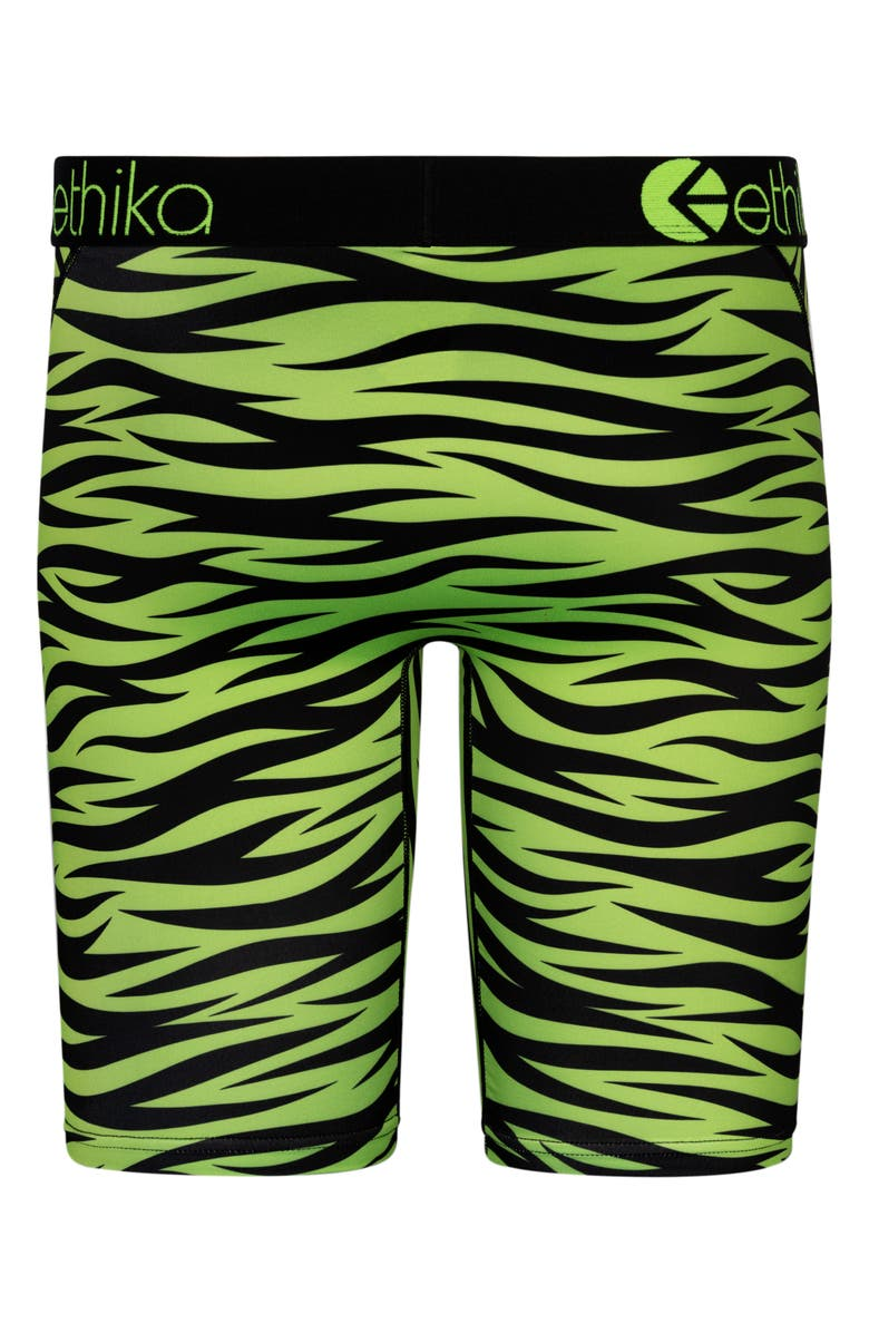 ETHIKA War Plane - Tiger Green Boxer Briefs, Main, color, BLACK/ GREEN