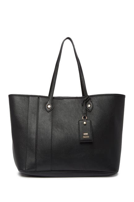 Image of Steve Madden Starlet Oversized Faux Leather Tote Bag