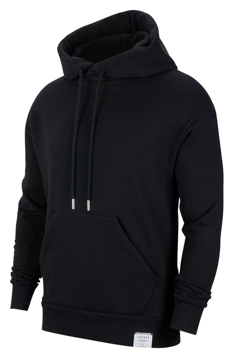 JORDAN Black Cat Hooded Sweatshirt, Main, color, BLACK/ BLACK