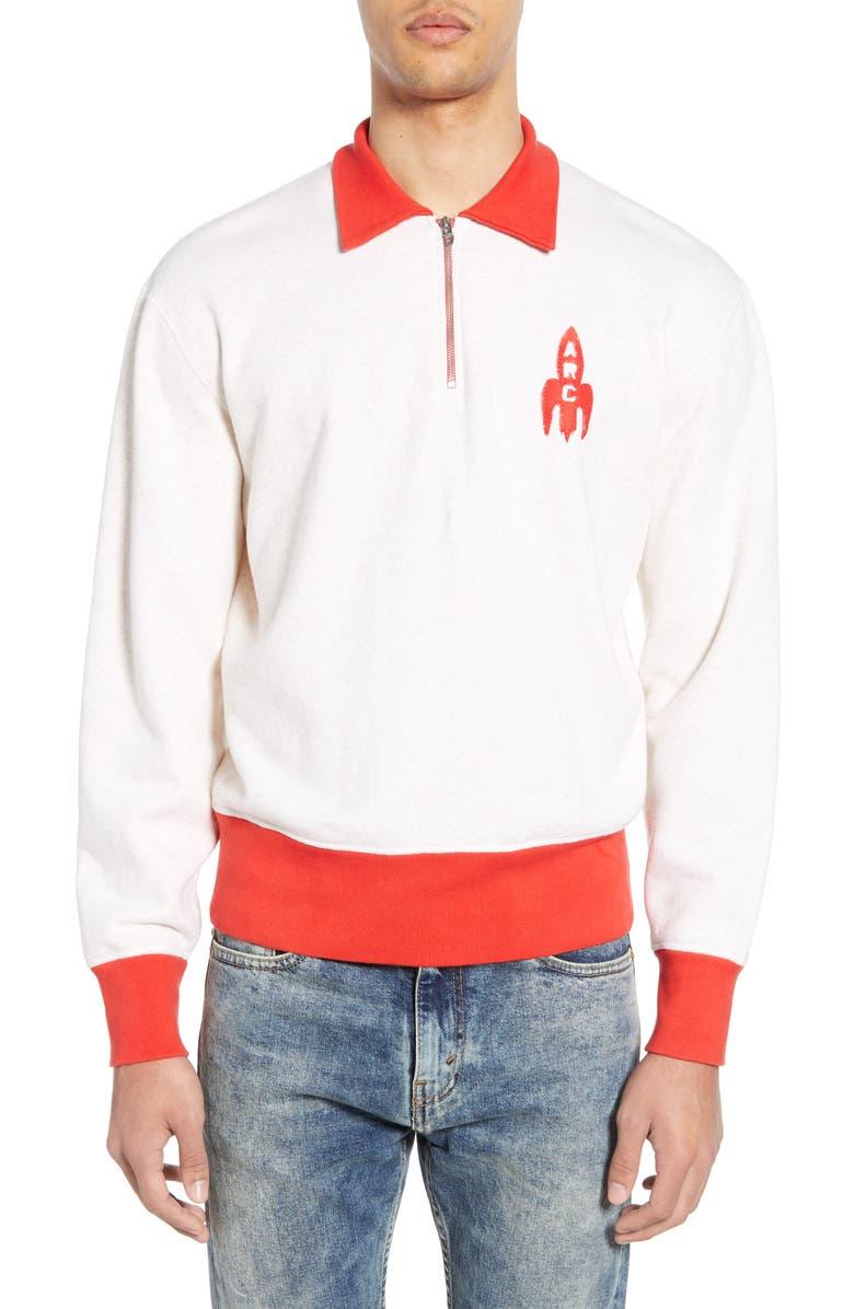 LEVI'S<SUP>®</SUP> VINTAGE CLOTHING 1950s Quarter Zip Sweatshirt, Main, color, 900