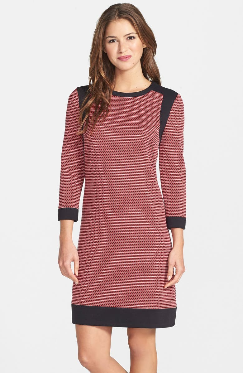 MAGGY LONDON Jacquard Knit Shift Dress, Main, color, 615