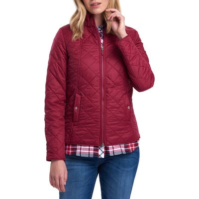 Barbour Backstay Diamond Quilted Jacket, US / 12 UK - Pink