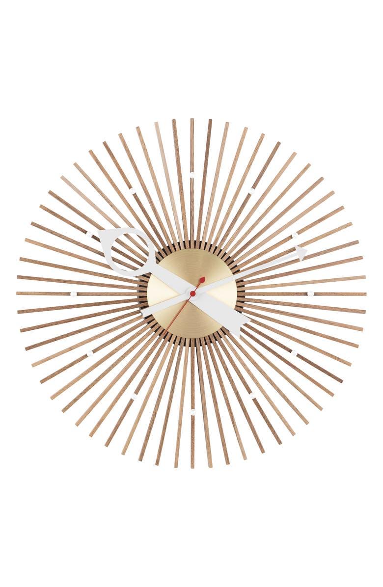 VITRA George Nelson Wall Clock, Main, color, WALNUT