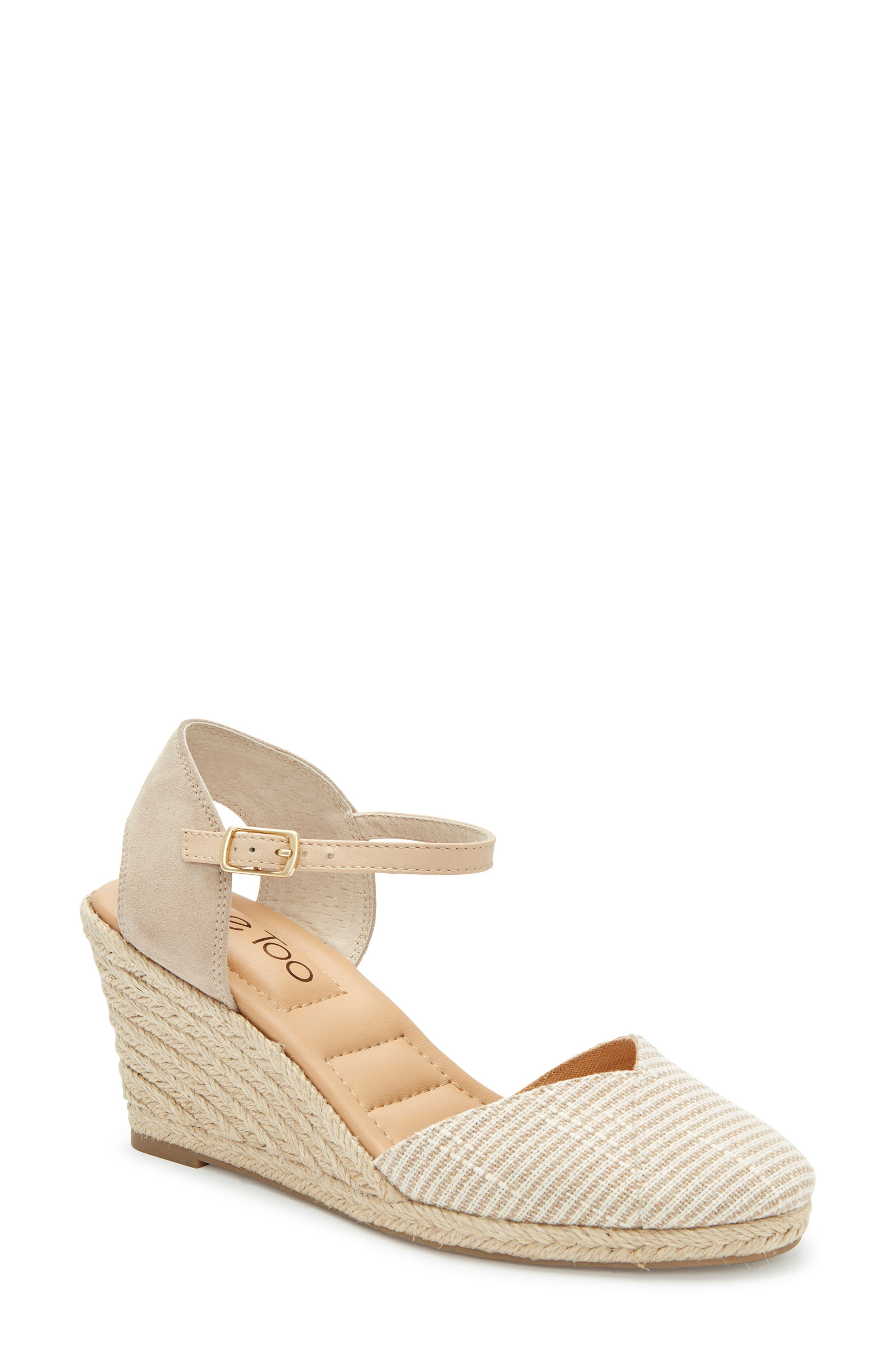 Brenna Espadrille Wedge Sandal, Main, color, TAN FABRIC