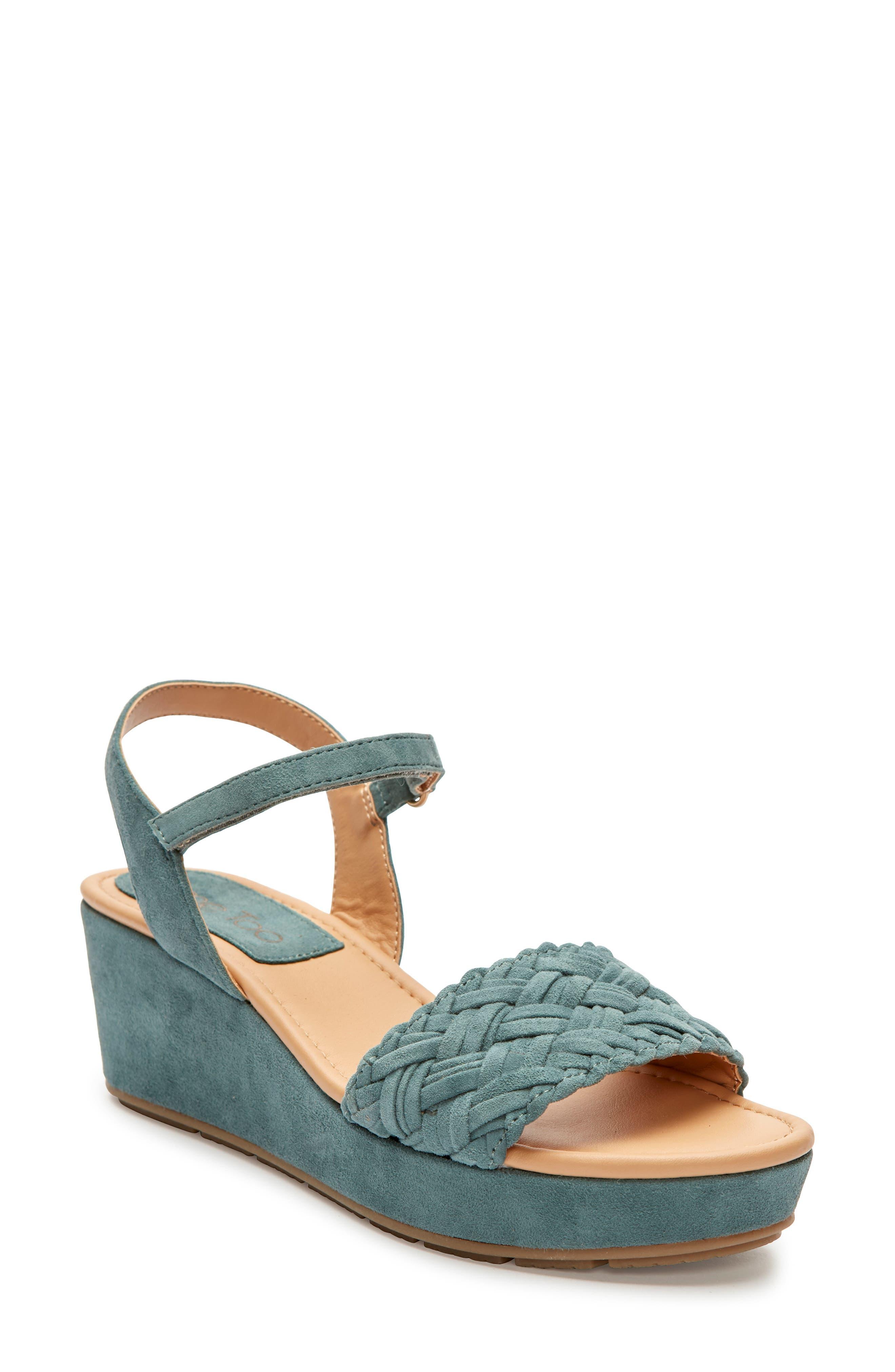 Me Too Abella Wedge Sandal- Blue