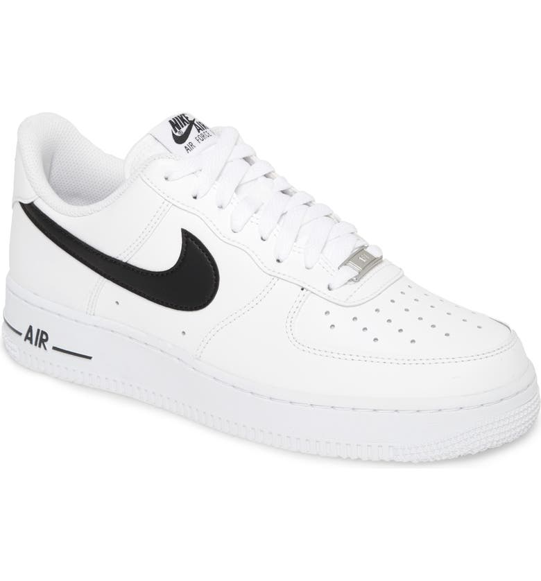 NIKE Air Force 1 '07 AN20 Sneaker, Main, color, WHITE/ BLACK
