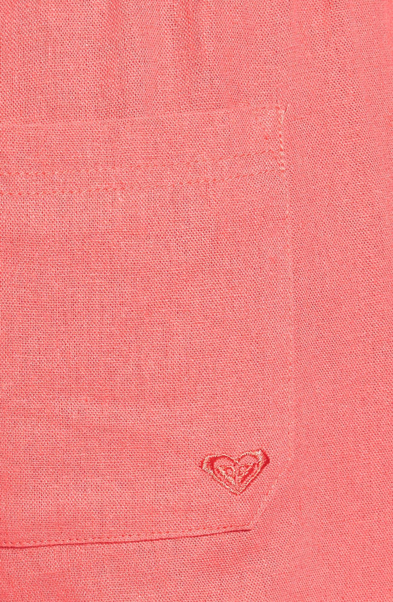 ,                             'Oceanside' Linen Blend Shorts,                             Alternate thumbnail 40, color,                             600