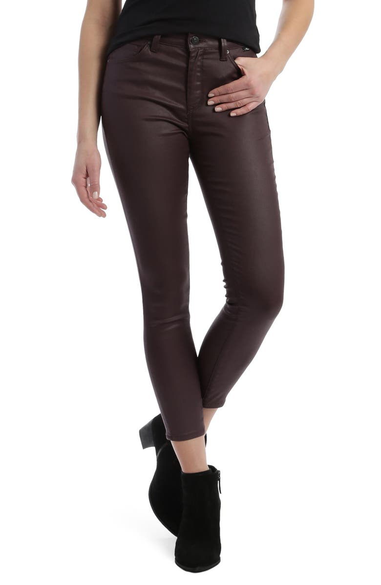 MAVI JEANS Tess Bordeaux Faux Leather Cotton Blend Skinny Pants, Main, color, BORDEUX JEATHER
