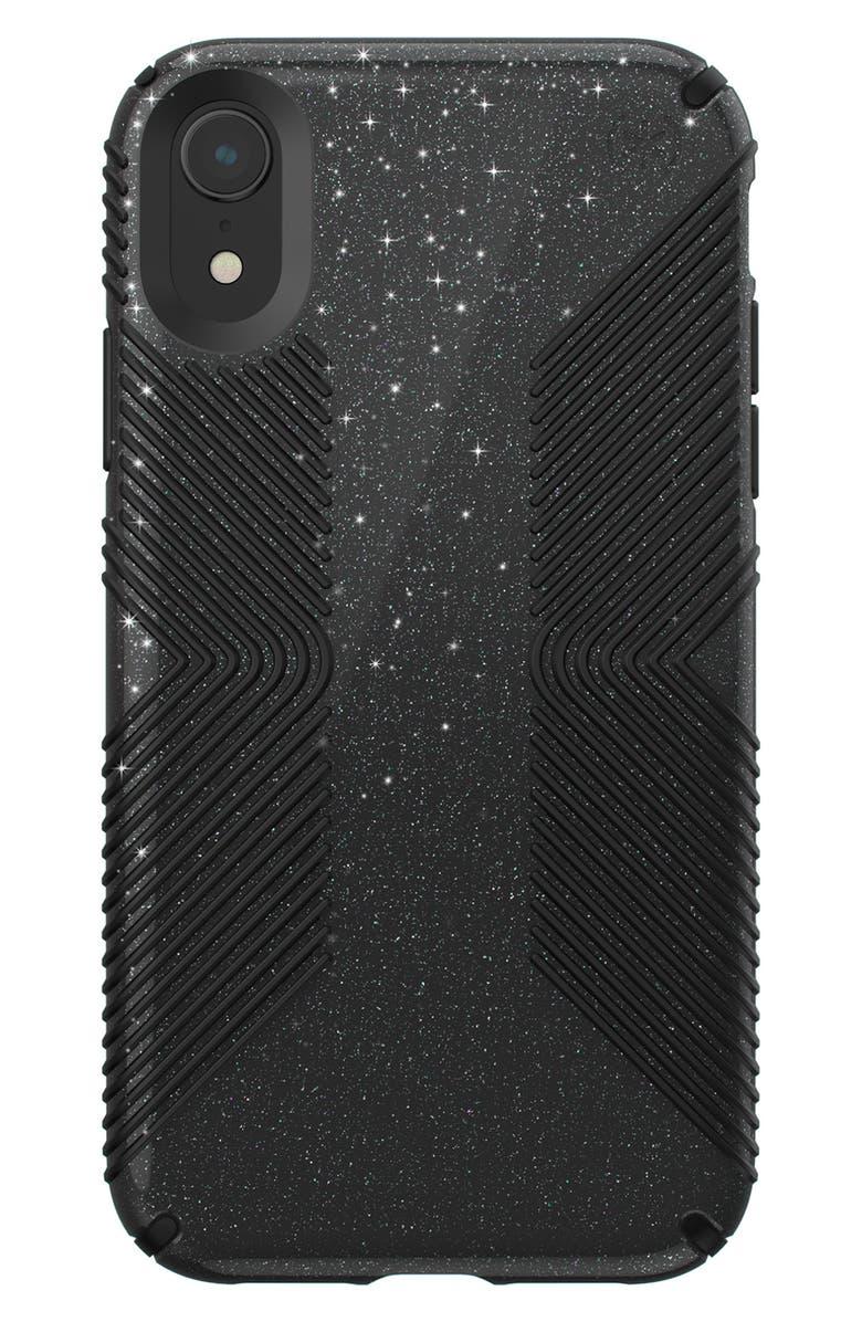 SPECK Presidio Grip iPhone X & XS Case, Main, color, BLACK XR