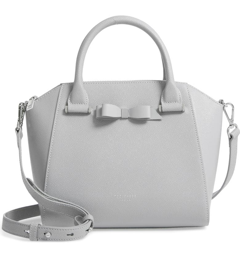 TED BAKER LONDON Janne Bow Leather Tote, Main, color, 030