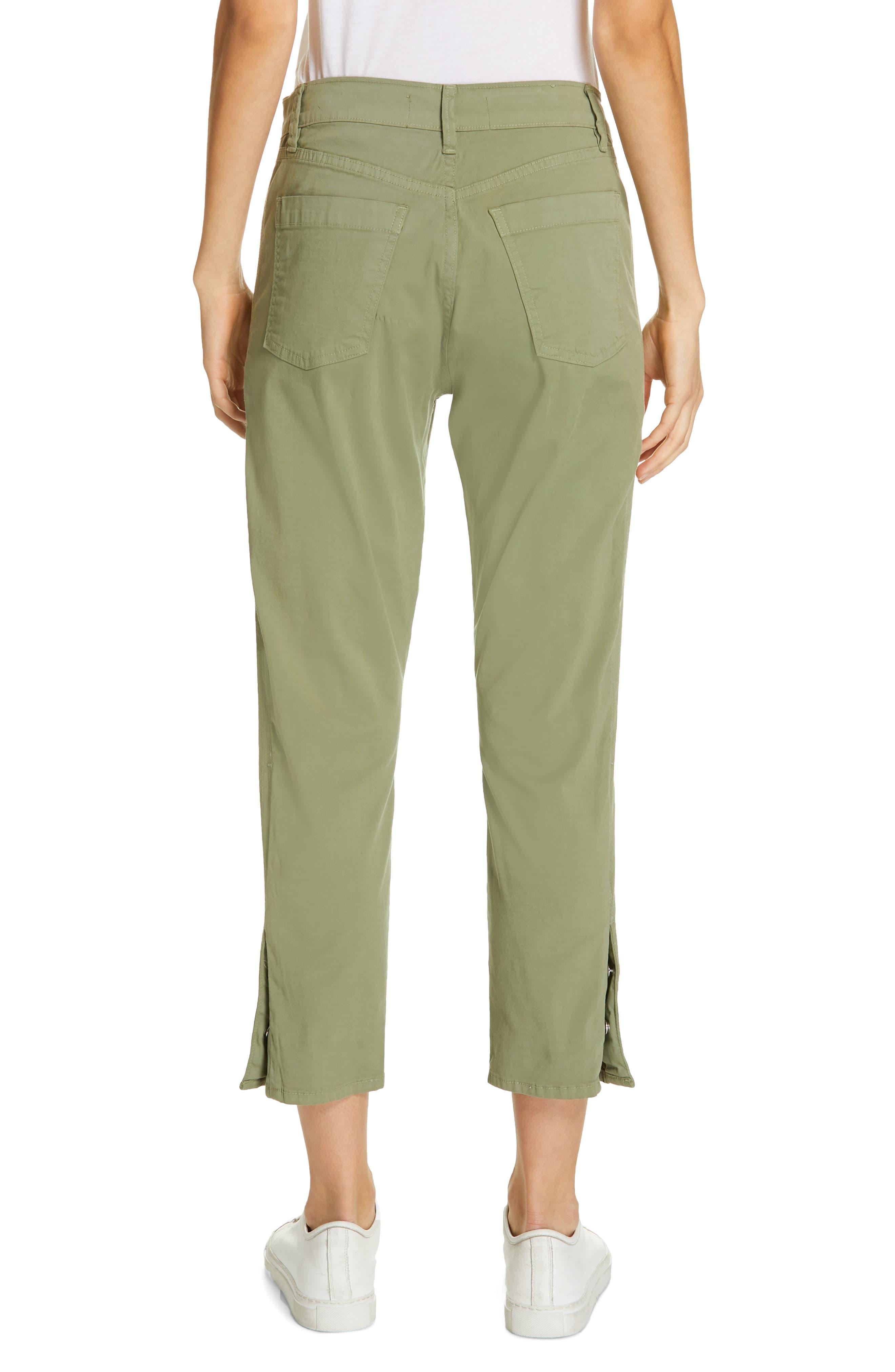 ,                             Simone Twill Crop Straight Leg Trousers,                             Alternate thumbnail 2, color,                             LIGHT MOSS