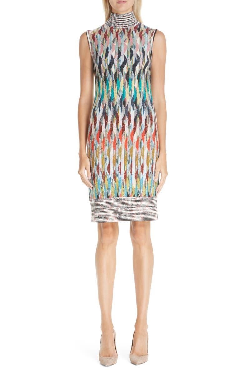 MISSONI Knit Turtleneck Dress, Main, color, 900