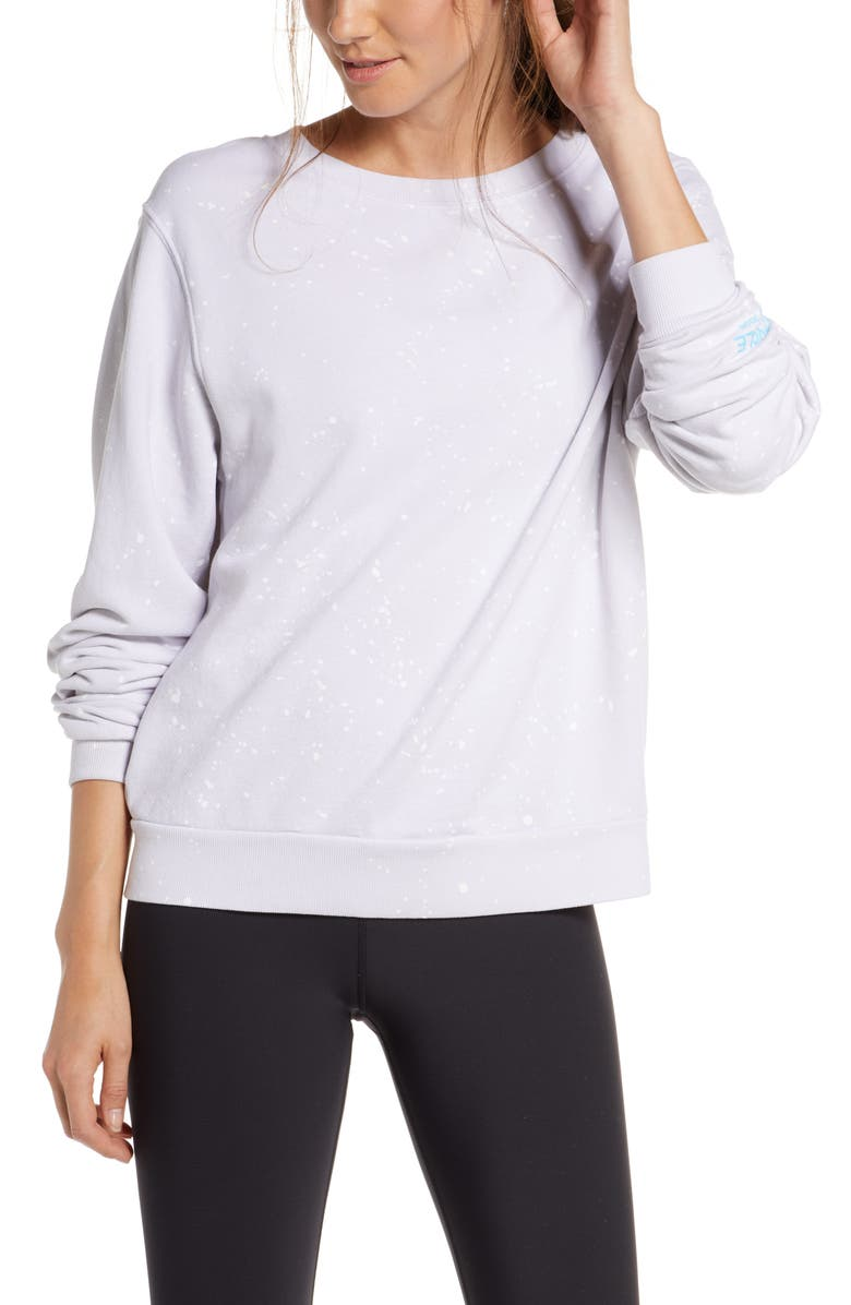 SOUL BY SOULCYCLE Splatter Paint Sweatshirt, Main, color, CHARCOAL