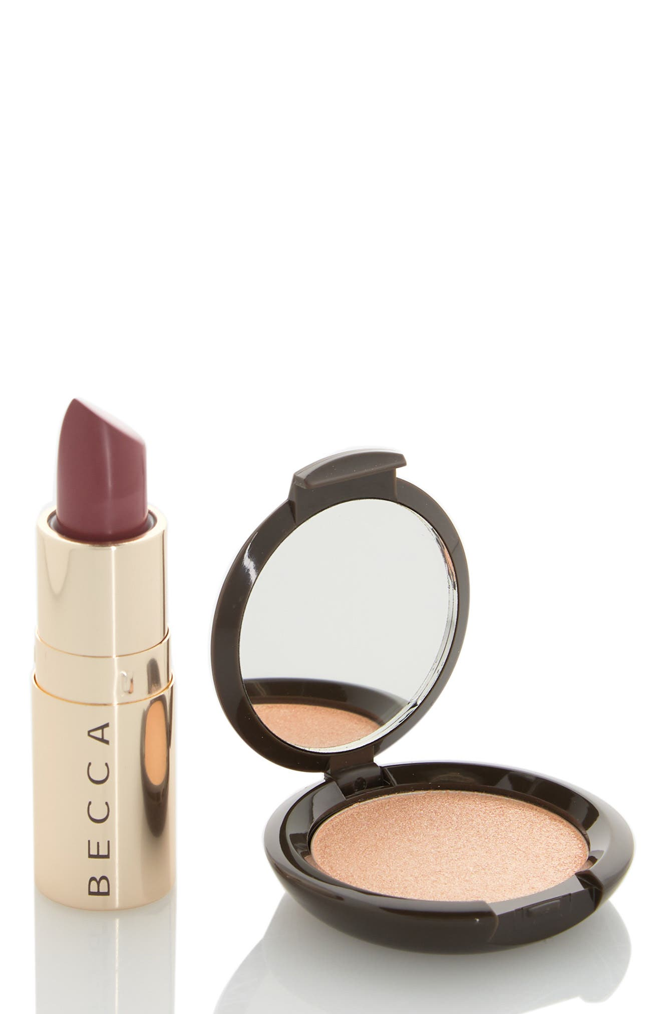 Image of BECCA Cosmetics BECCA Mini Highlighter + Lipstick Duo