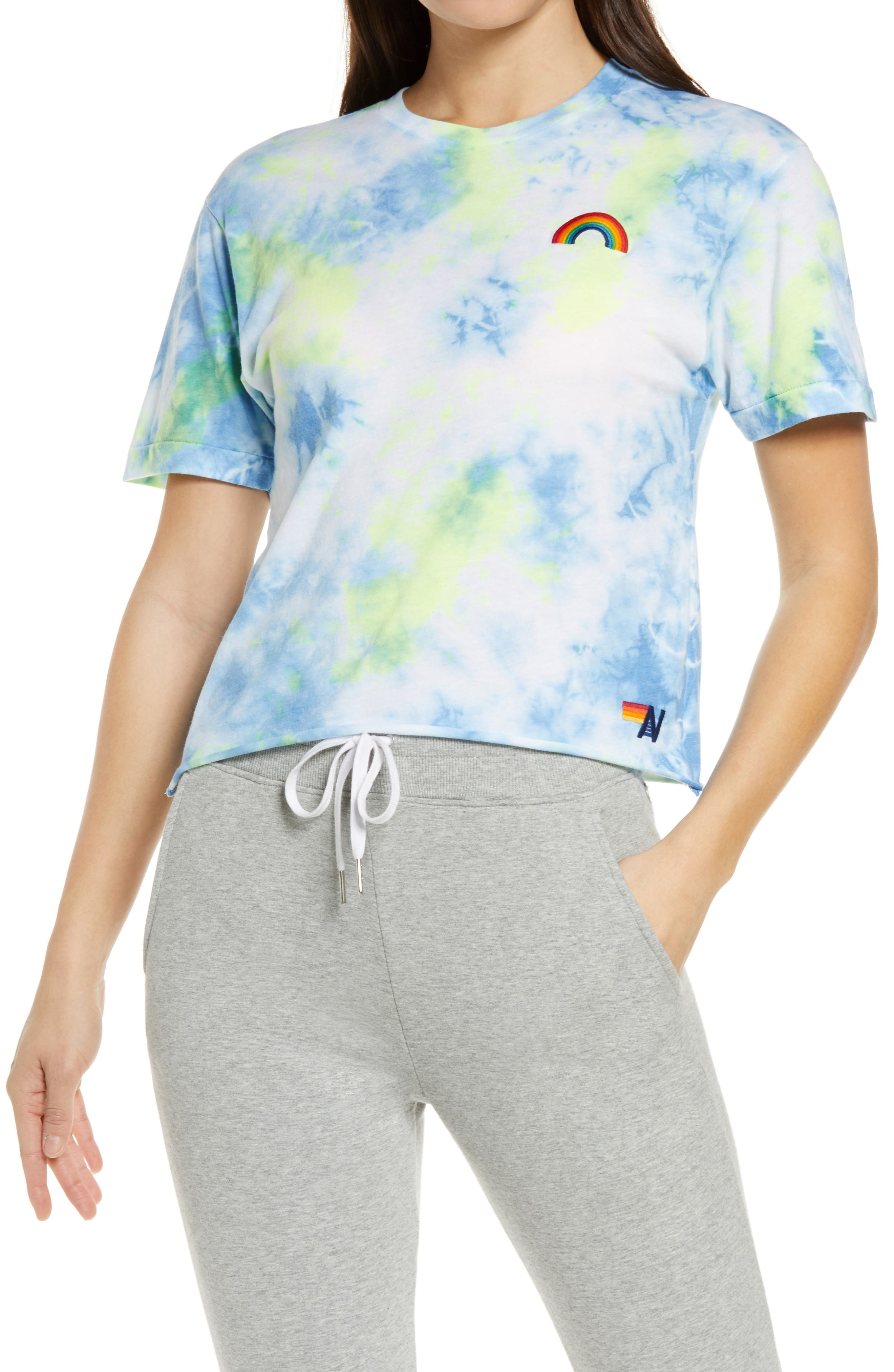 Rainbow Tie Dye Boyfriend Women's T-Shirt