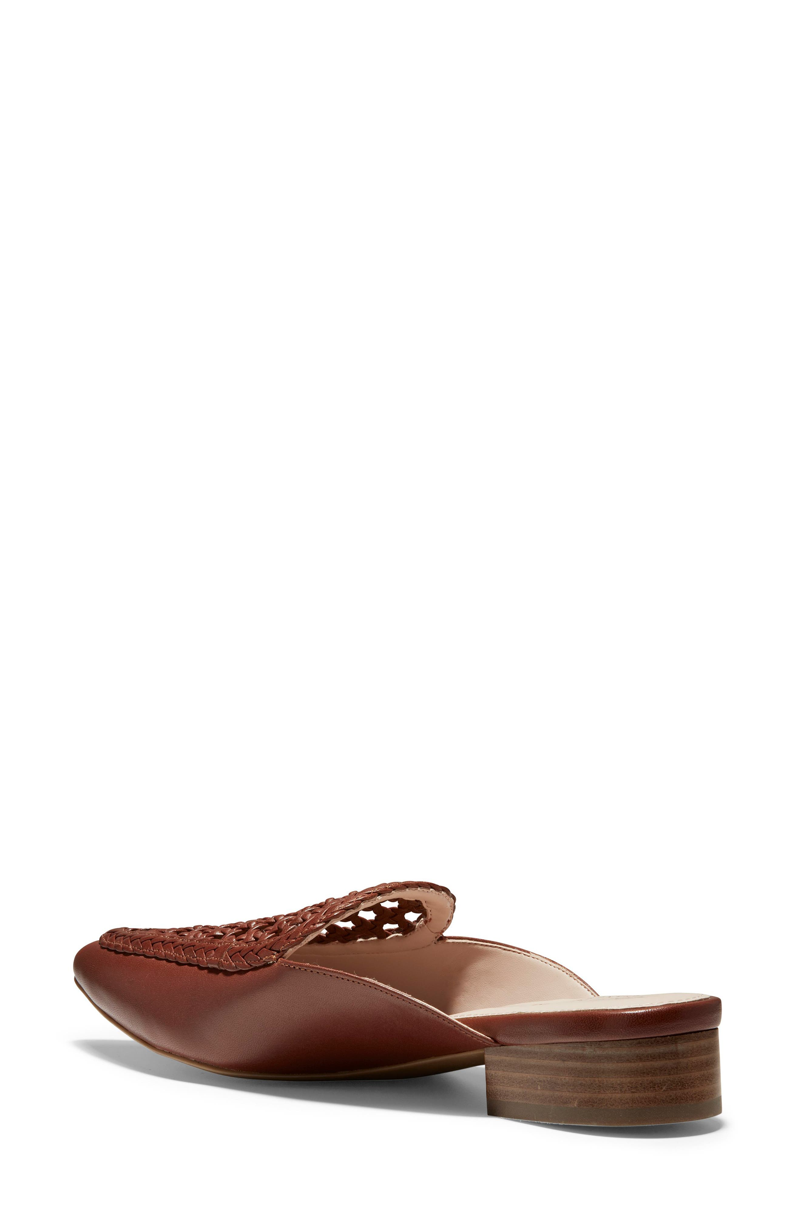 ,                             Payson Woven Mule,                             Alternate thumbnail 2, color,                             CHERRY MAHOGANY LEATHER