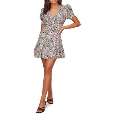 Astr The Label Merci Floral A-Line Dress, Black