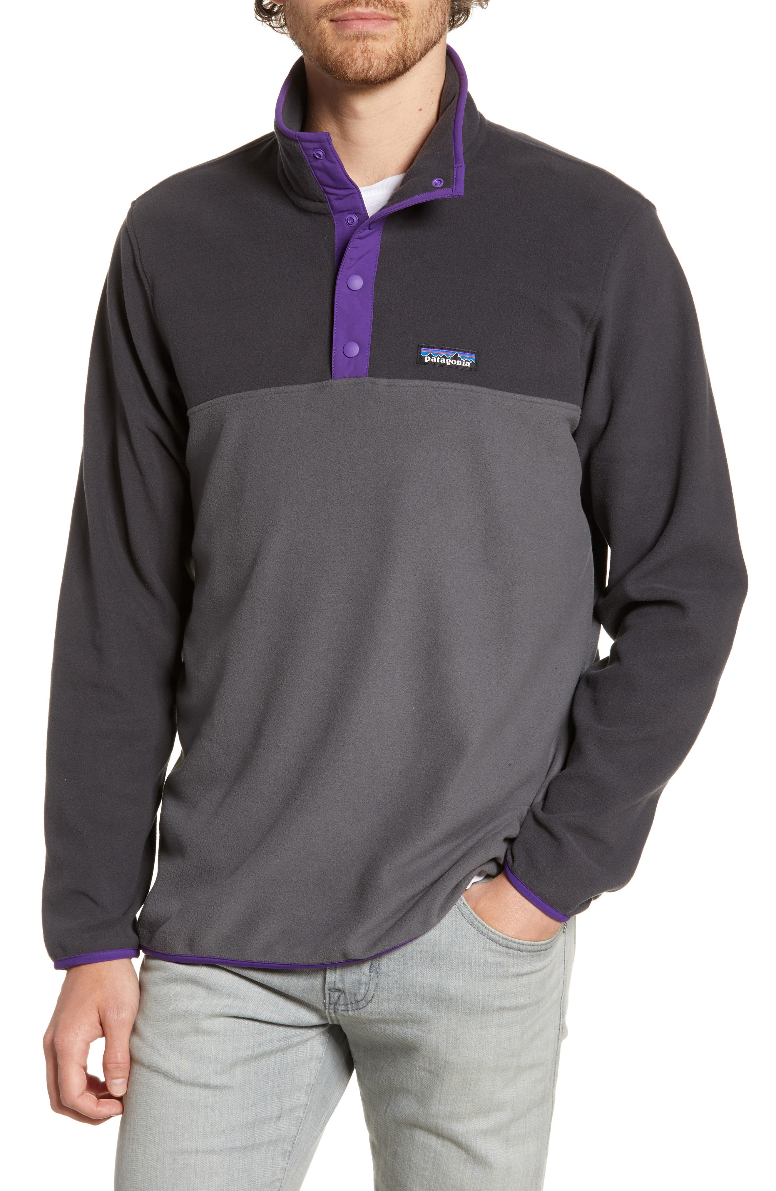 ,                             Micro-D<sup>®</sup> Snap-T<sup>®</sup> Fleece Pullover,                             Main thumbnail 1, color,                             FORGE GREY