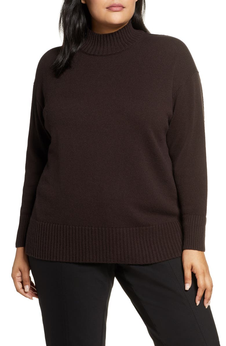 LAFAYETTE 148 NEW YORK Mock Neck Cashmere Sweater, Main, color, 001