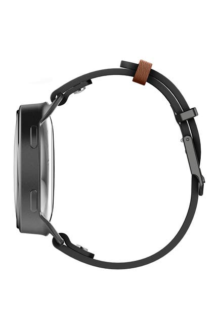 Image of Misfit Phase Hybrid Leather Strap Smartwatch, 40mm