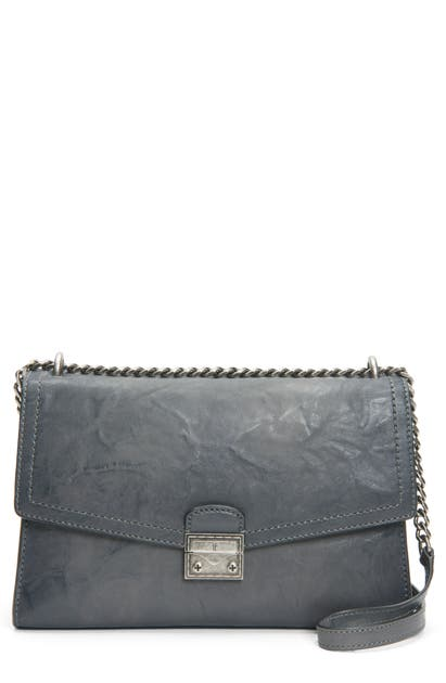 Frye Shoulder ELLA LEATHER SHOULDER BAG - GREY