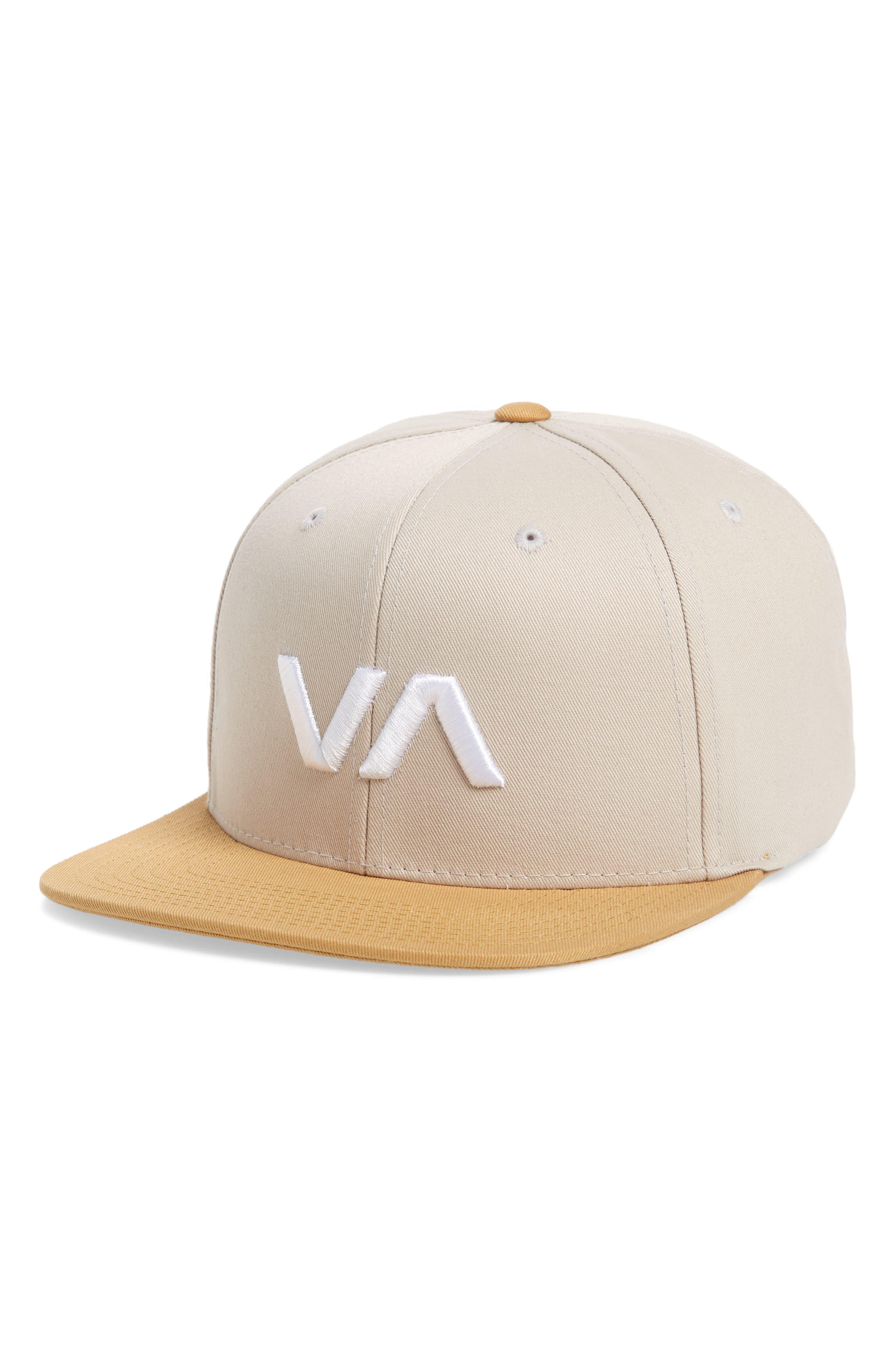 'VA' Snapback Hat, Main, color, GREY GHOST