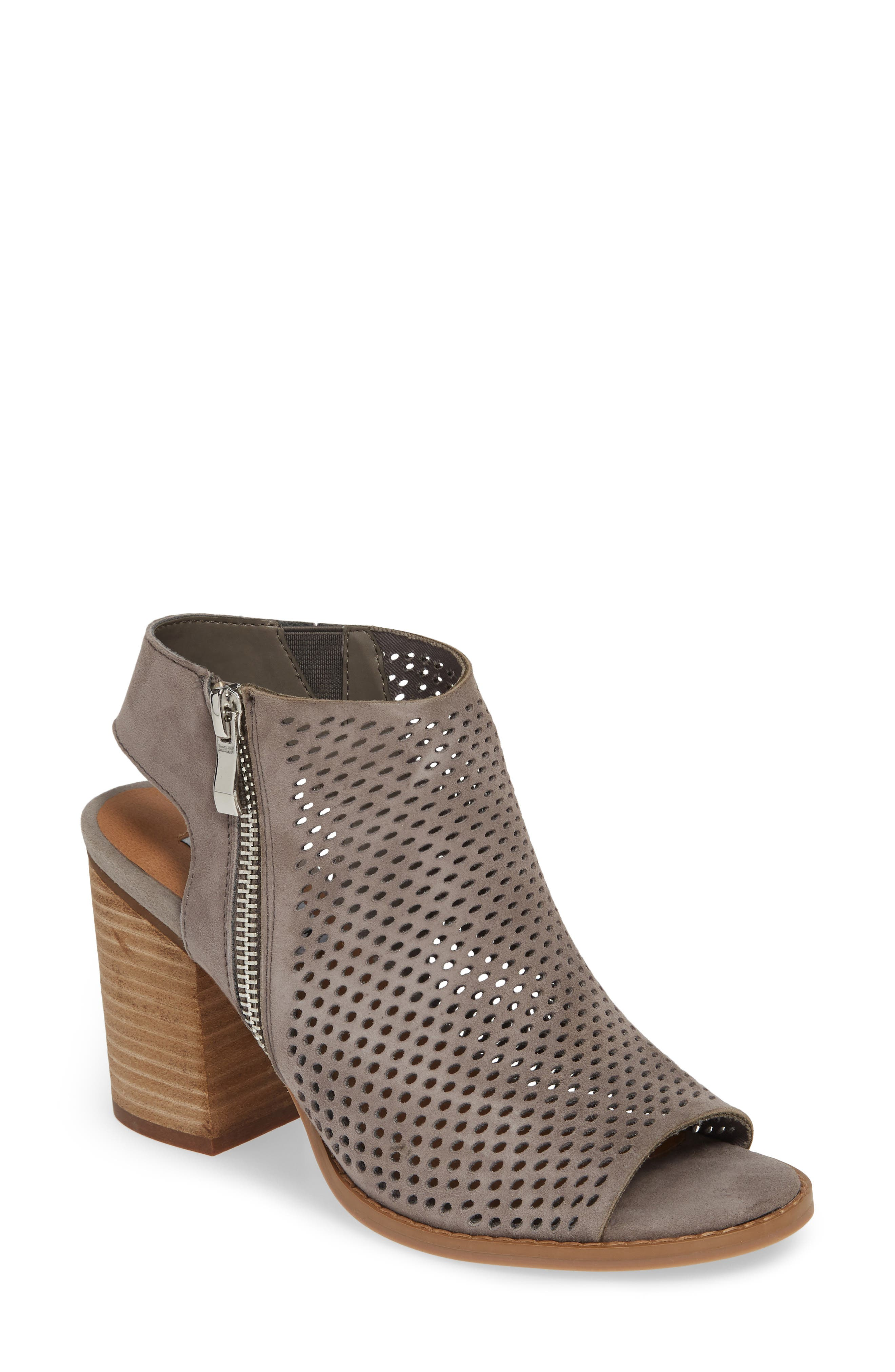 Steve Madden Abigail Perforated Bootie- Grey