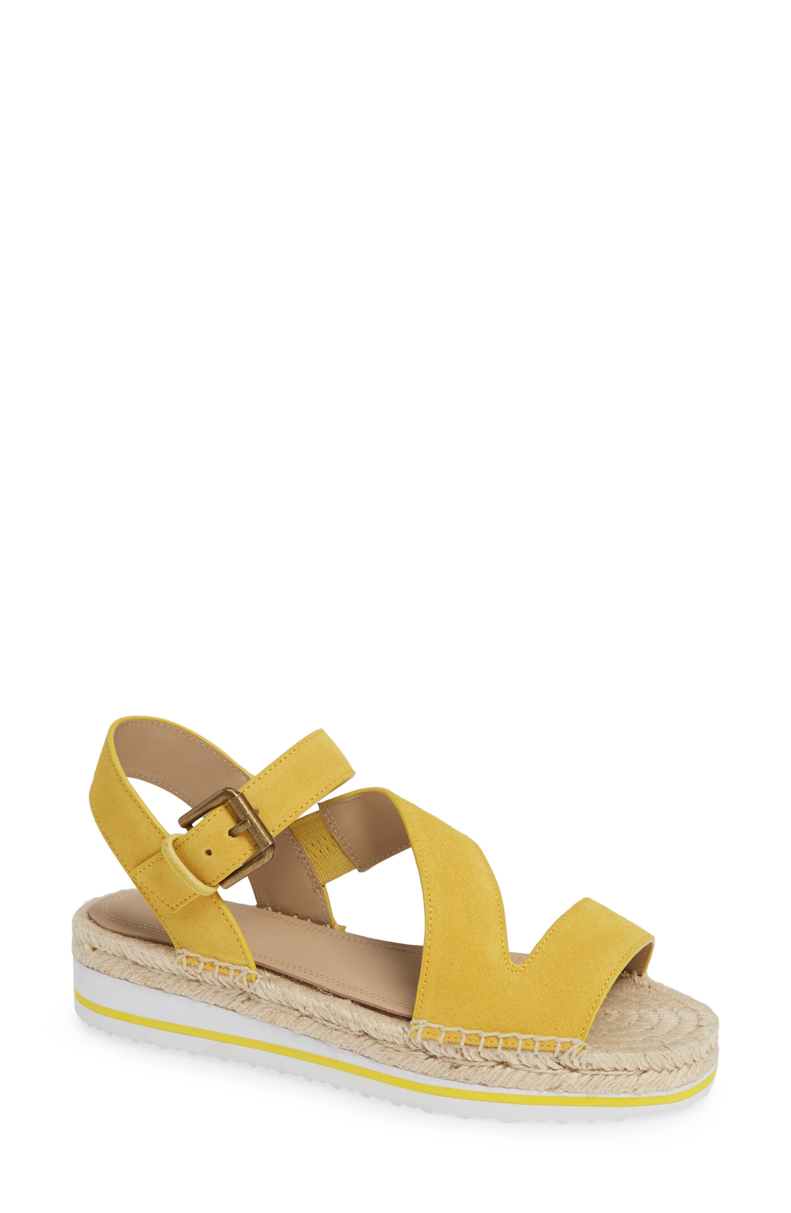 Nordstrom Signature Areanna Strappy Espadrille Sandal - Yellow