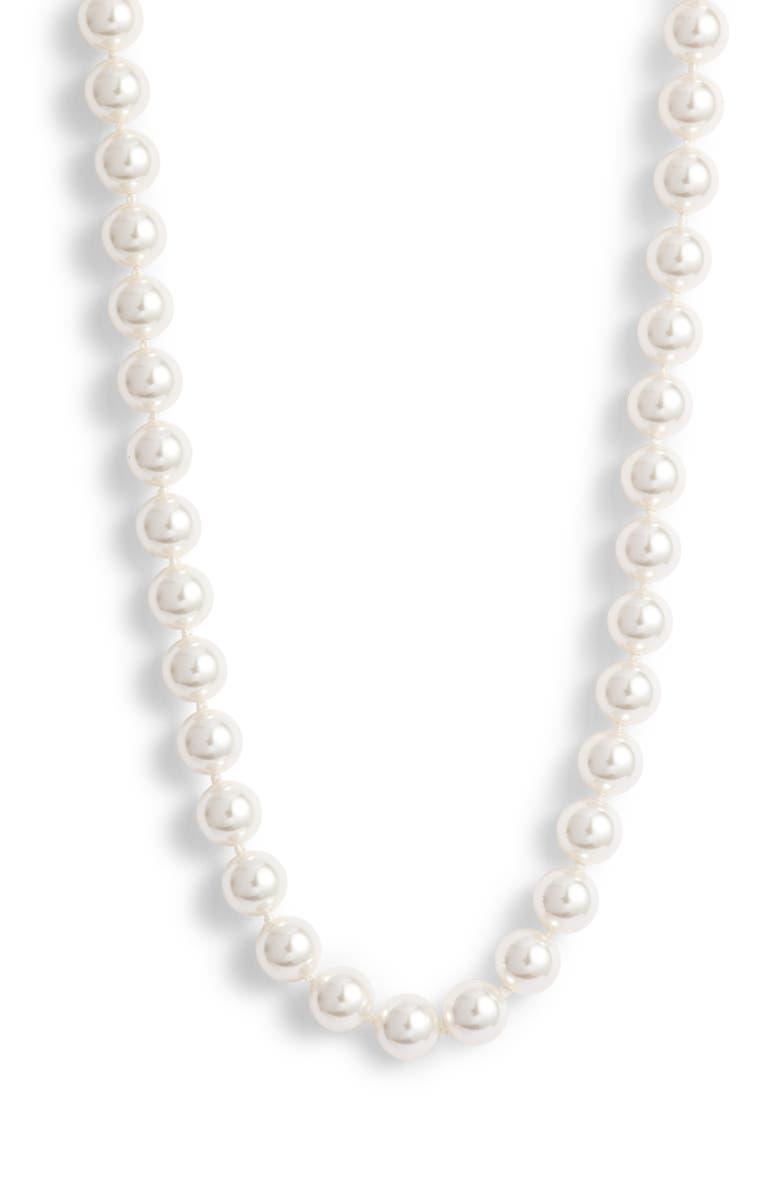 NADRI Simulated Pearl Collar Necklace, Main, color, 140