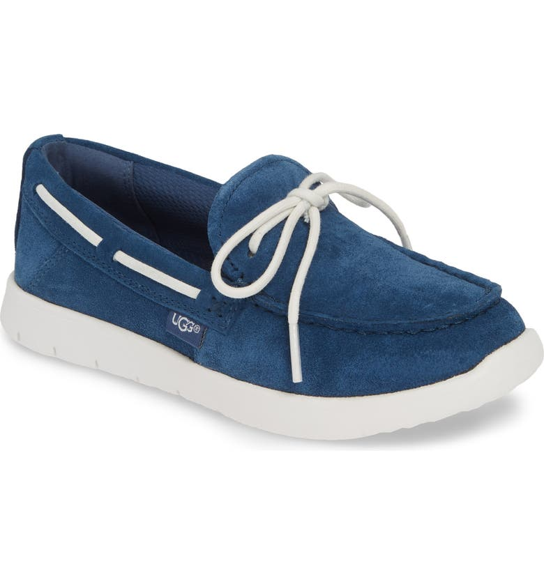UGG<SUP>®</SUP> Beach Slip-On Moccasin, Main, color, ENSIGN BLUE