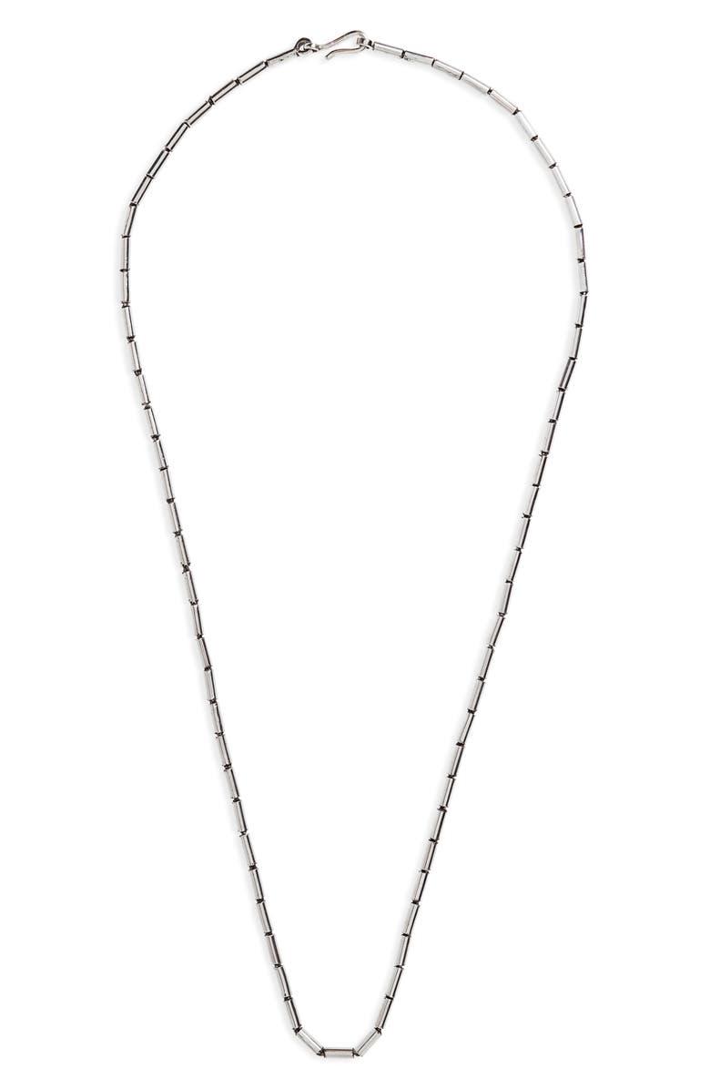 CAPUTO & CO. Silver Pipe Chain Necklace, Main, color, STERLING SILVER