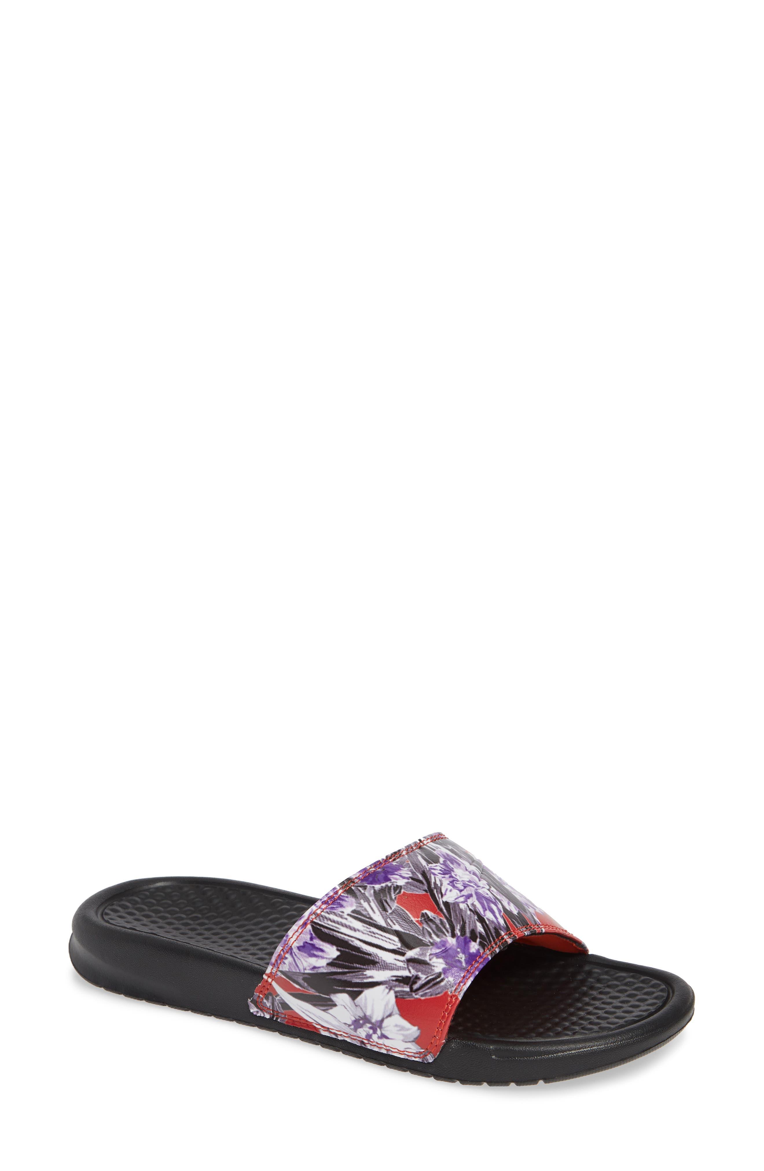 sale retailer e22d6 5aecb Nike 'Benassi - Just Do It' Print Sandal, Orange