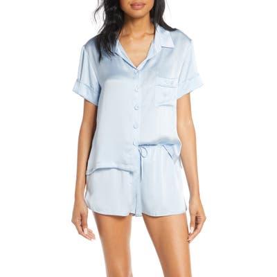 Papinelle Silk Short Pajamas, Blue