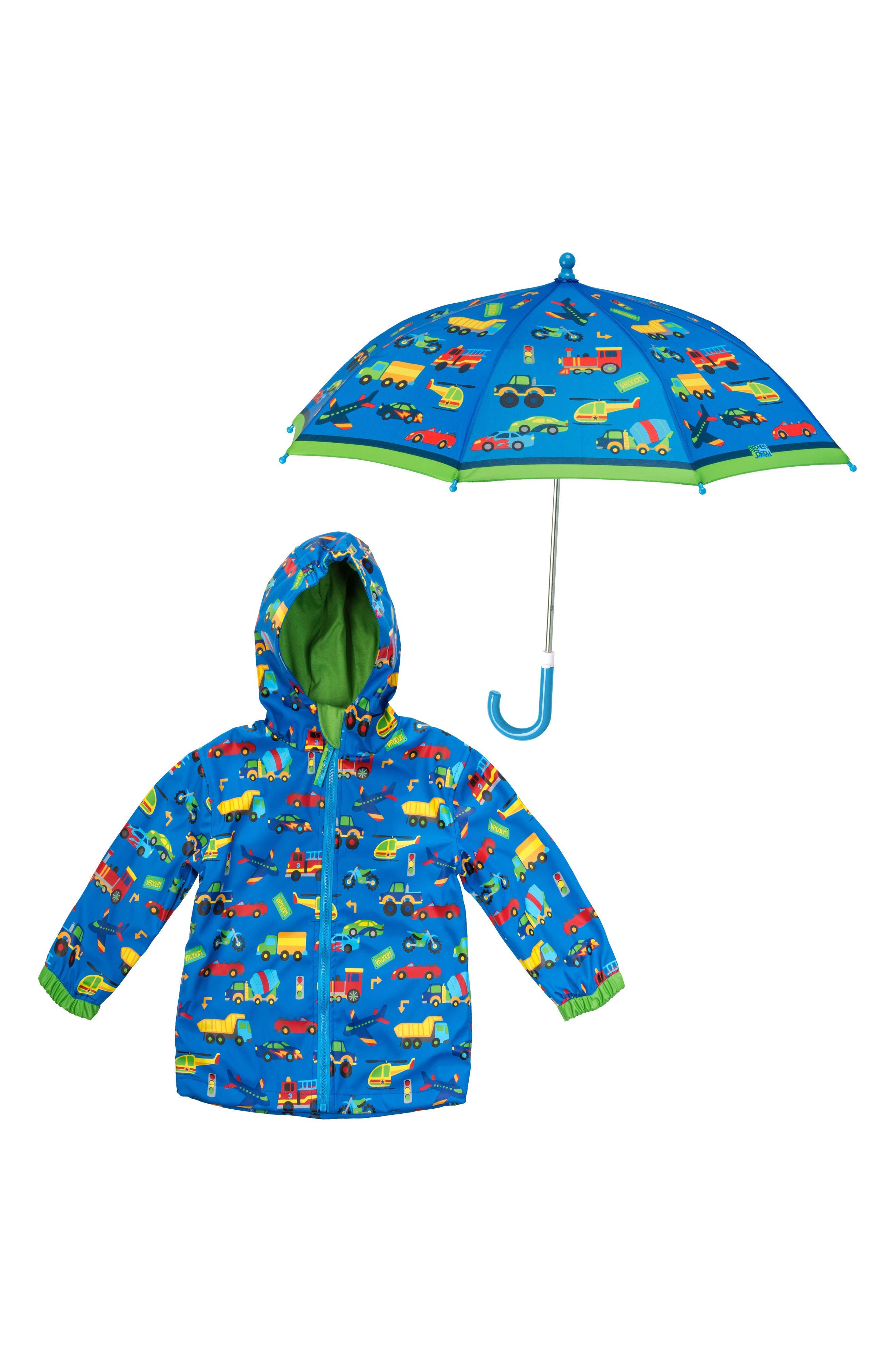 Toddler Boys Stephen Joseph Raincoat  Umbrella Set