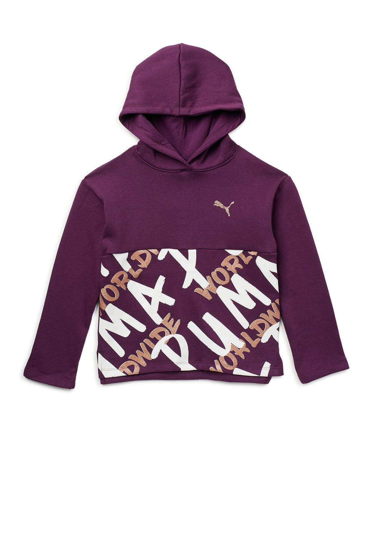 Image of PUMA Tag Pack Fleece Pullover Hoodie