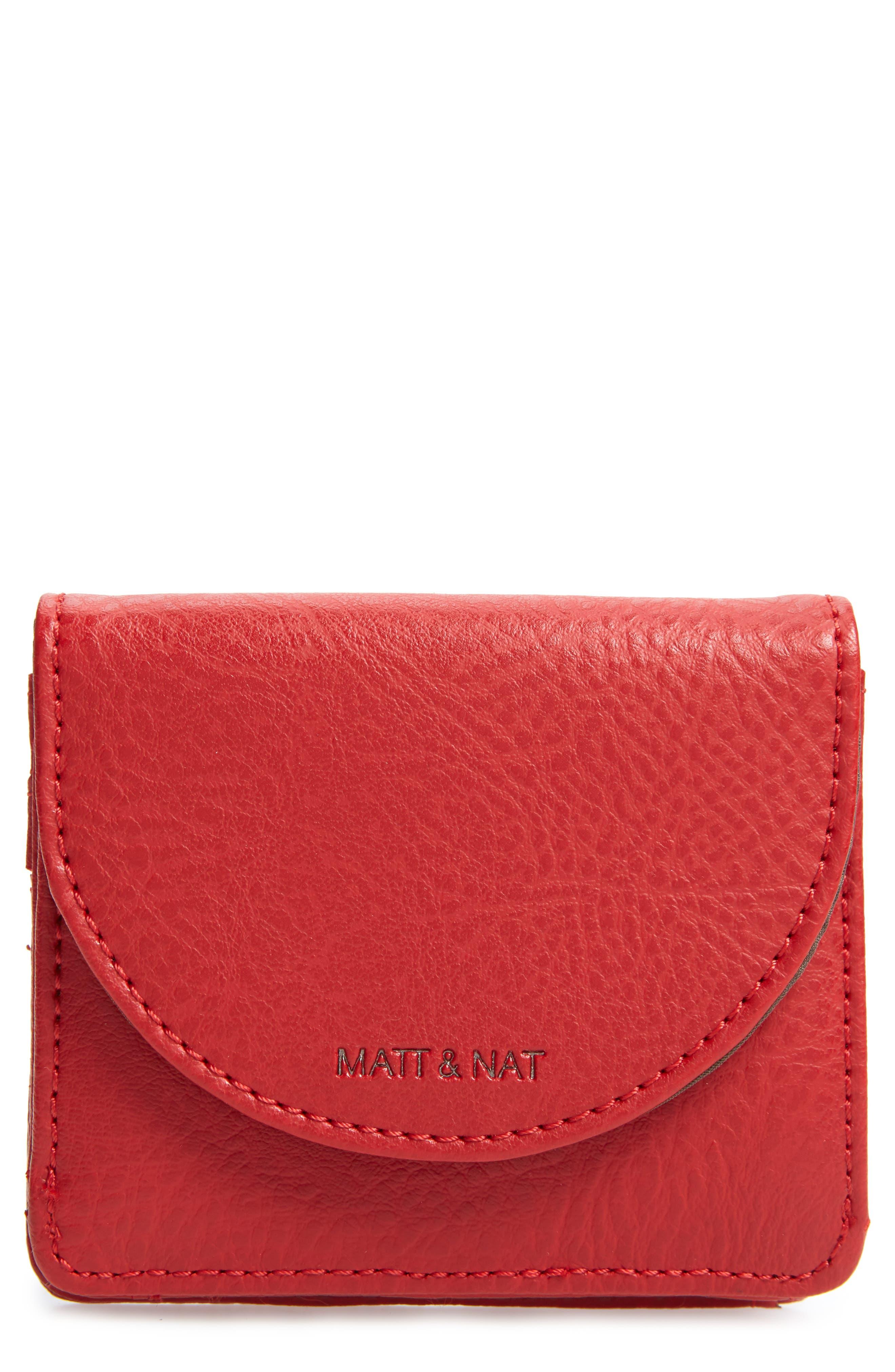 Matt & Nat Farre Faux Leather Wallet - Red