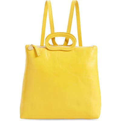 Clare V. Marcelle Leather Backpack - Yellow
