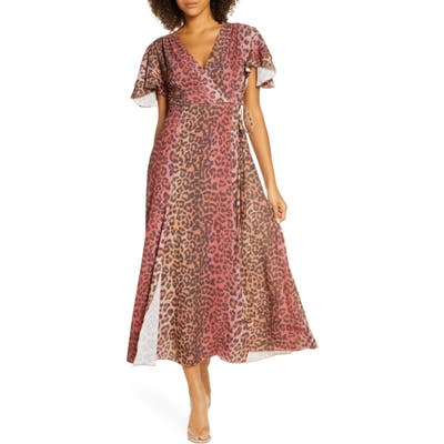 French Connection Annalia Faux Wrap Maxi Dress, Red