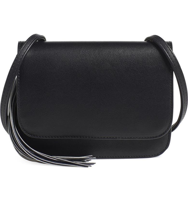 OMG ACCESSORIES OMG Tassel Crossbody Bag, Main, color, Black