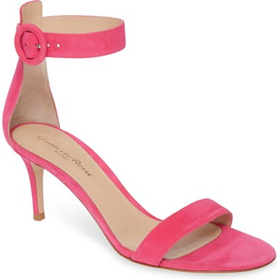 Gianvito Rossi Ankle Strap Sandal, Pink