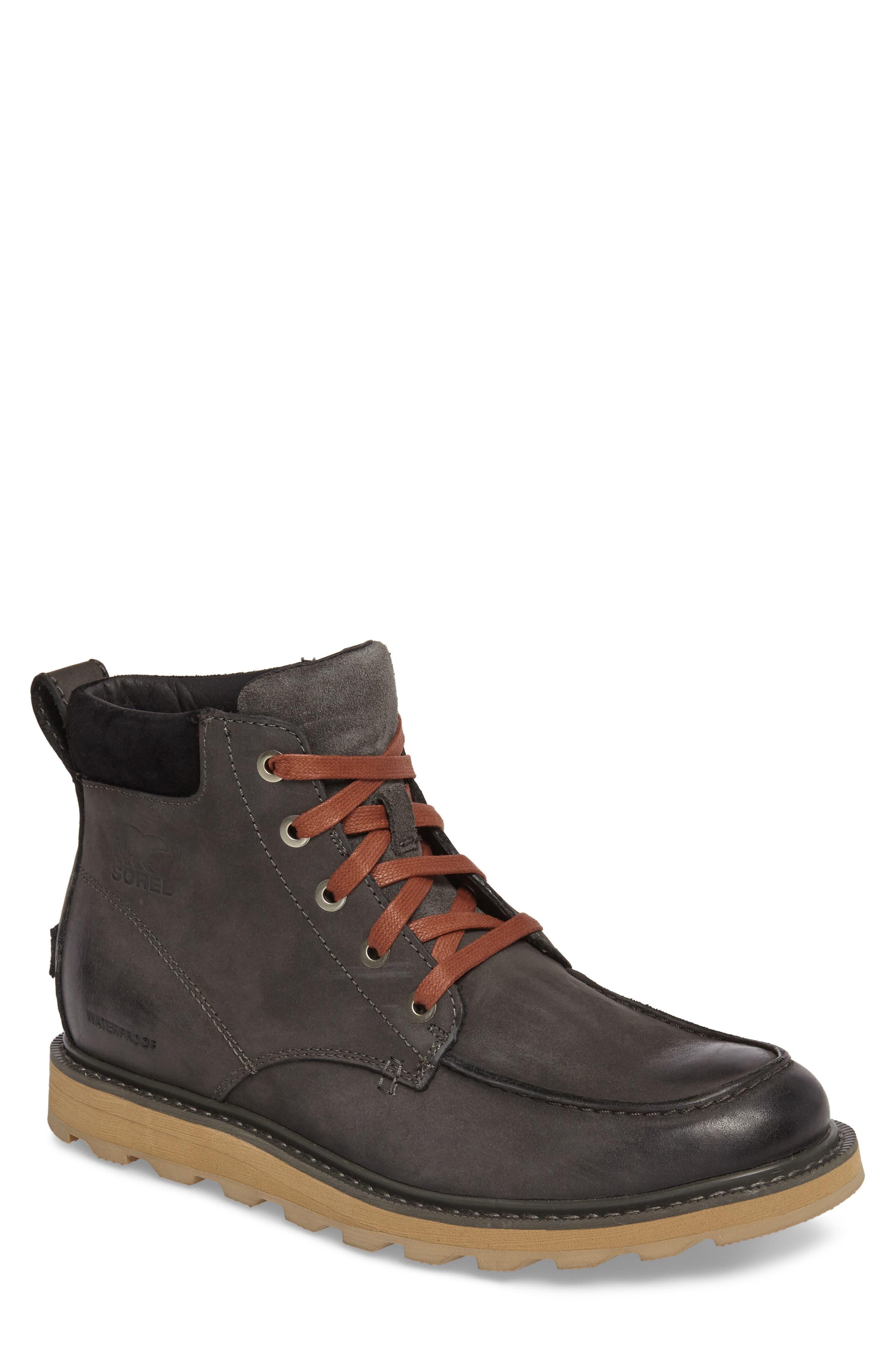 Sorel Madson Moc Toe Waterproof Boot- Grey