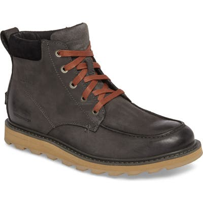 Sorel Madson Moc Toe Waterproof Boot- Grey